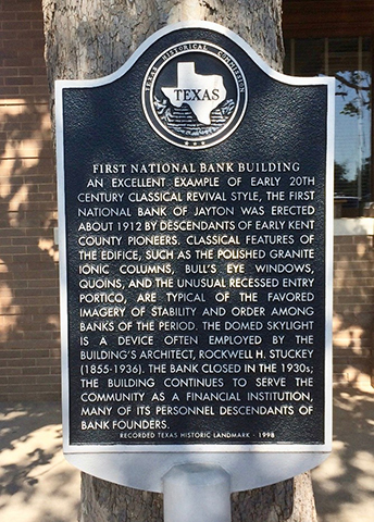 First National Bank Building Marker